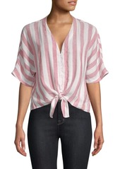 Rails Thea Striped Tie-Front Top