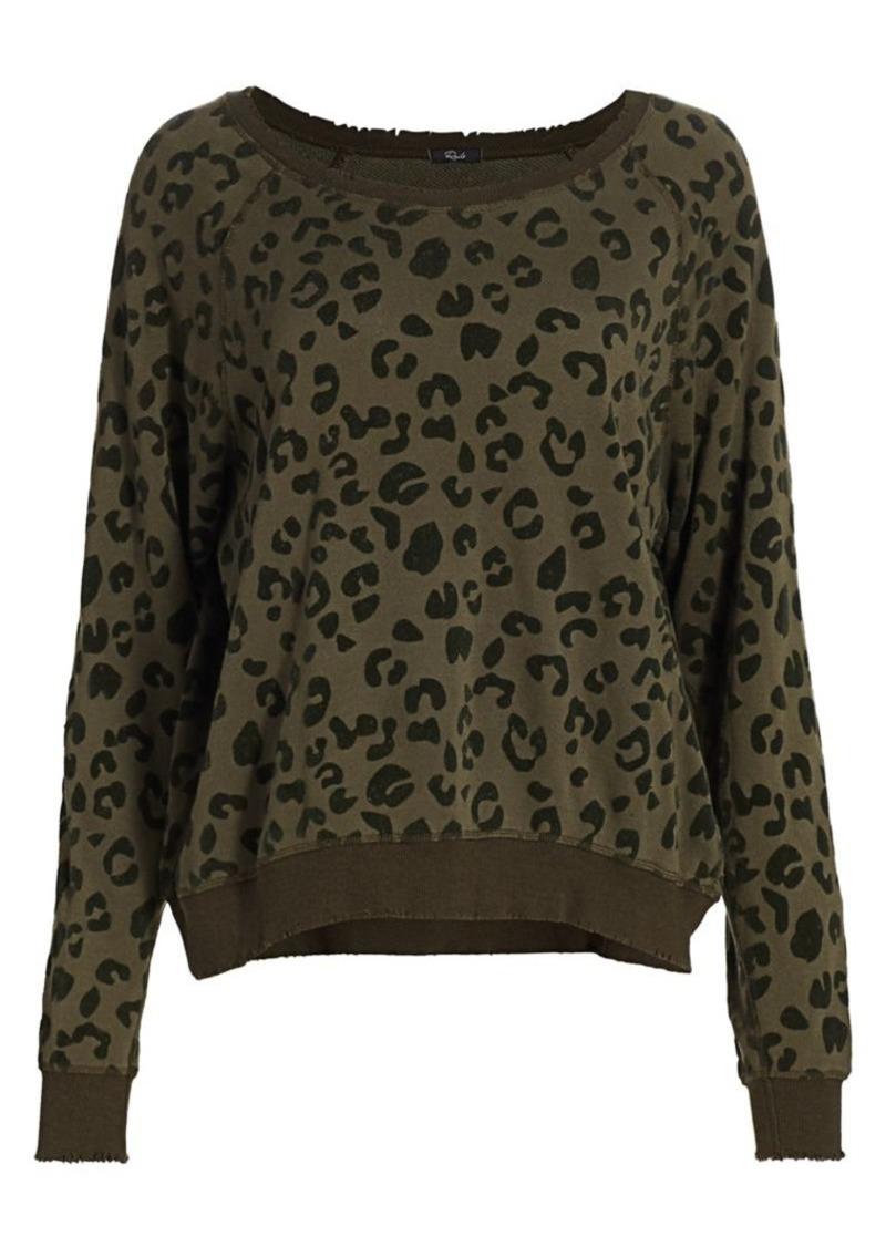 Rails Theo Leopard Print Sweatshirt