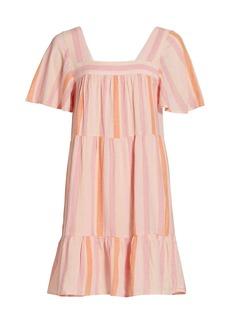 Rails Valentina Stripe Tiered Mini Dress