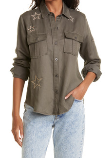 Women's Rails Loren Star Embroidered Military Twill Shirt Jacket