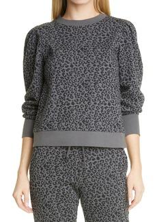 Women's Rails Marcie Cheetah Print Cotton Blend Sweatshirt