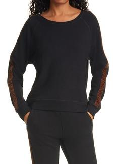 Women's Rails Theo Leopard Trim Sweatshirt
