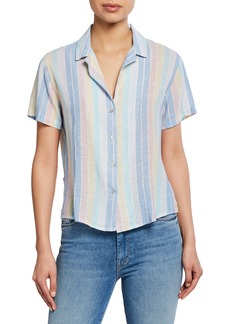 Rails Zuma Striped Button-Down Short Sleeve Shirt