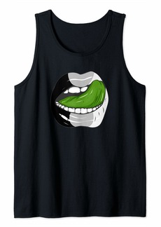Rainbow Agender Pride LGBTQ Ace Lips Party Tank Top