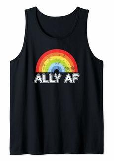 Rainbow Ally AF Gay Pride LGBT Flag Gift Tank Top