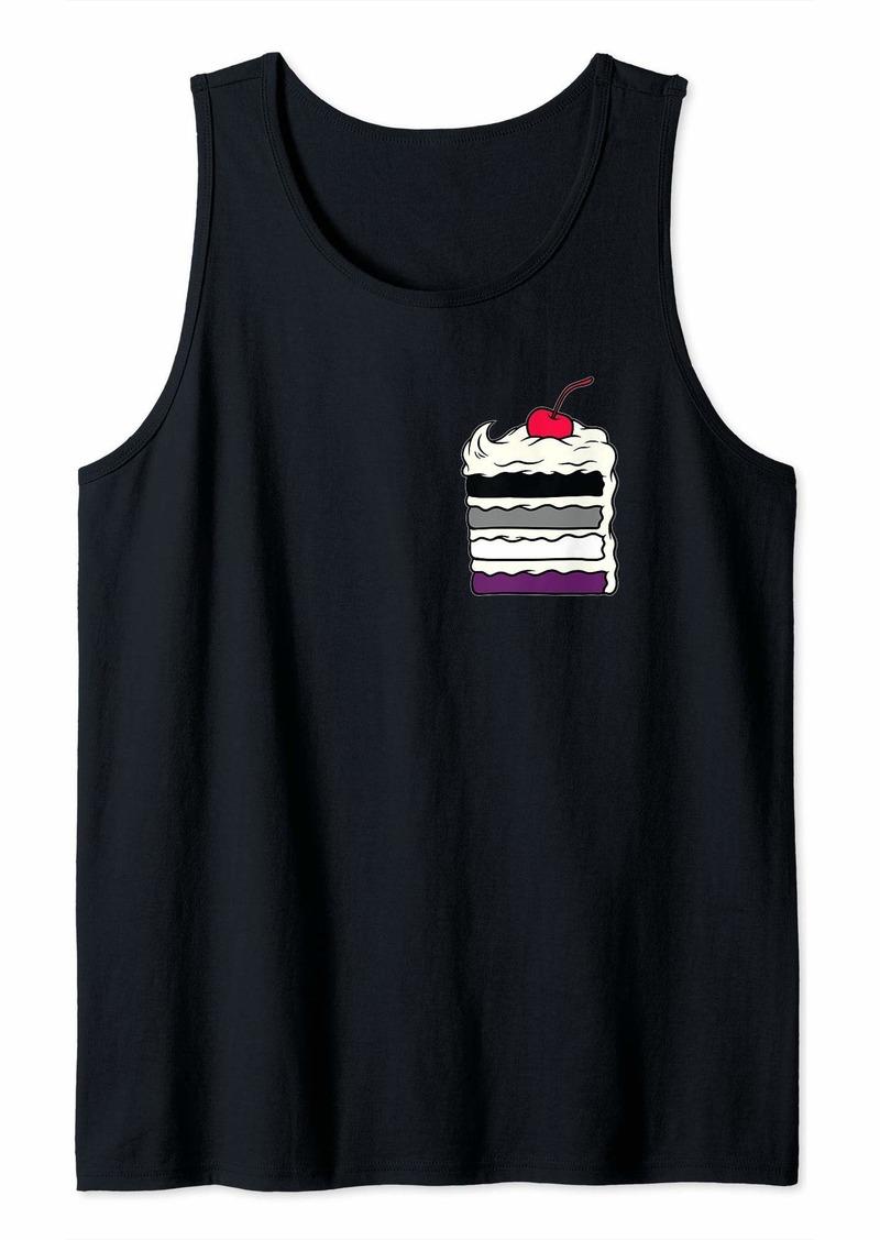 Rainbow Asexual Layered Cake Pocket Gay Pride Week Tank Top