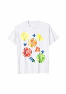 Cute Watercolor Rainbow Summer Fruits Citrus Lemon T Shirts