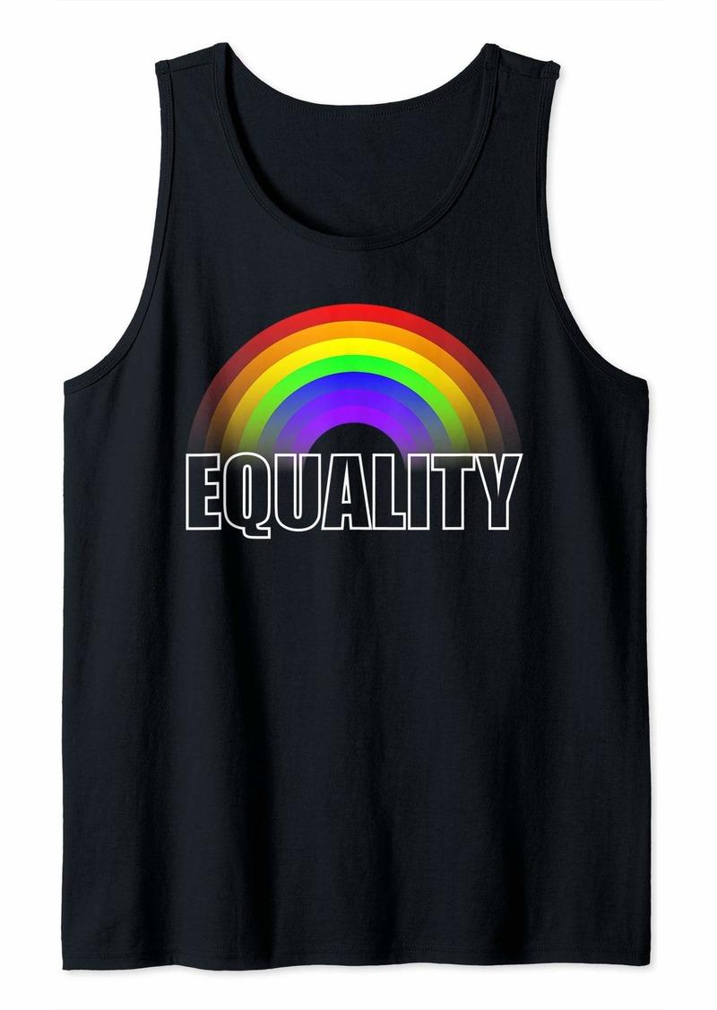 Equality Rainbow Flag LGBT Gay Pride Month Lesbian Trans Bi Tank Top