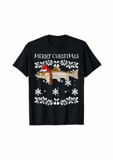 Fish Merry Christmas Ornament Rainbow Trout Ugly Xmas T-Shirt