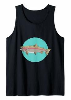 Fishing for the rainbow fish - Fun Fisherman Graphic Tank Top