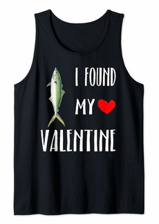 I Found My Valentine Day Rainbow Runner Fish Lover Tank Top