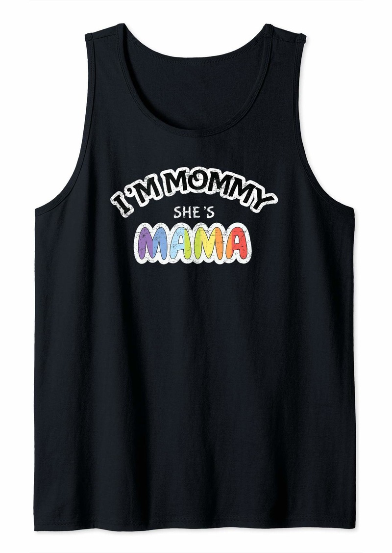 Rainbow Im Mommy Shes Mama Lesbian Pride Parade LGBT Tank Top