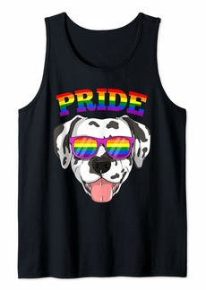 LGBT Dalmatian Dog Gay Pride Rainbow LGBTQ Cute Gift Tank Top