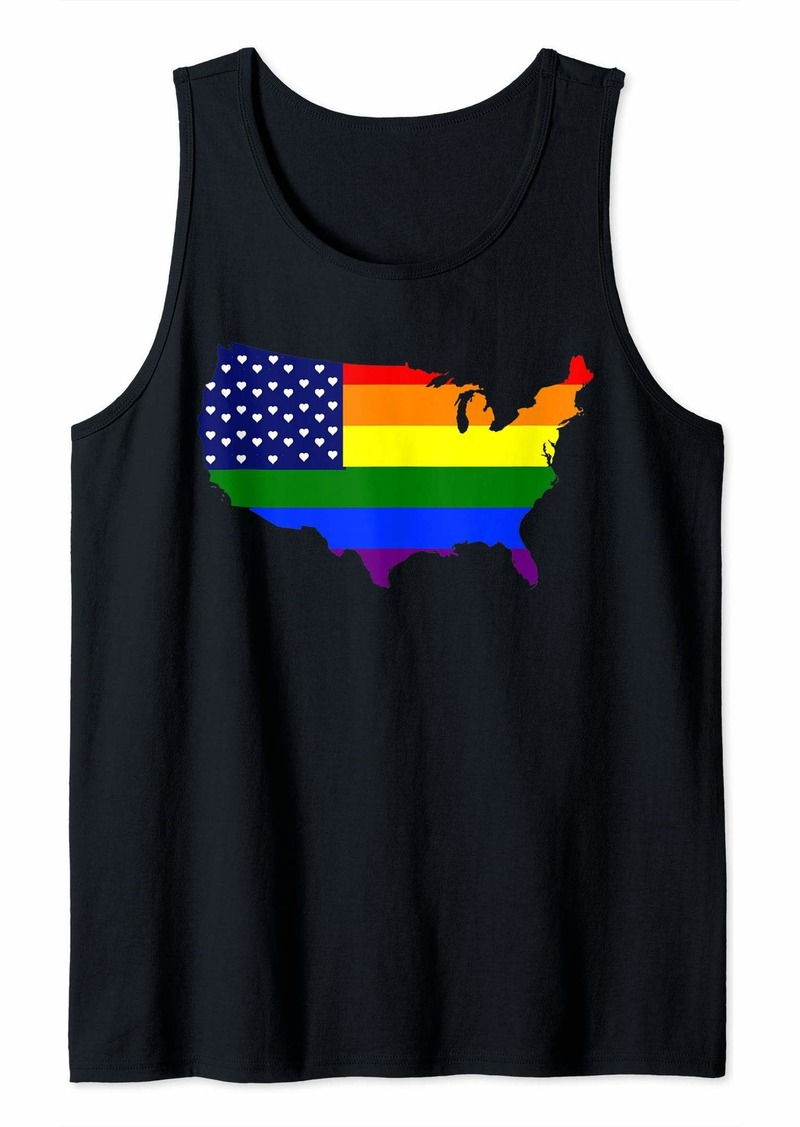 Rainbow LGBT Gay Pride Flag with heart Shirt - Gay Pride 2019  Tank Top
