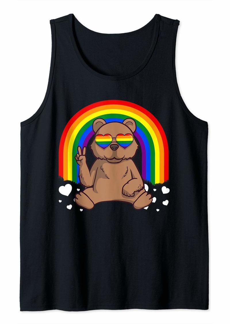 LGBT Grizzly Bear Gay Pride Rainbow LGBTQ Cute Gift Tank Top