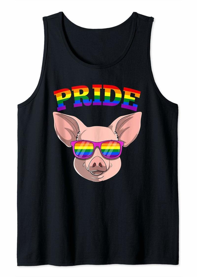 LGBT Pig Gay Pride Rainbow LGBTQ Cute Gift Tank Top