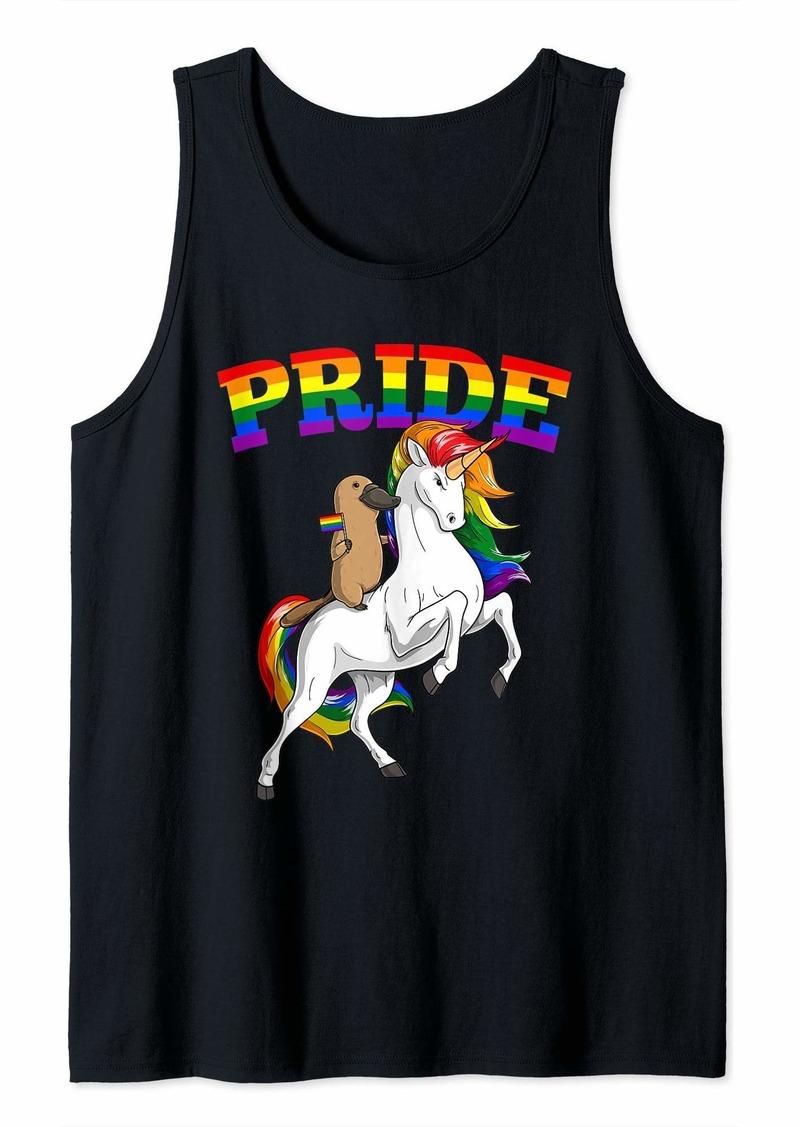 LGBT Platypus Unicorn Gay Pride Rainbow LGBTQ Cute Gift Tank Top