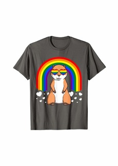 LGBT Prairie Dog Gay Pride Rainbow LGBTQ Cute Gift T-Shirt
