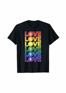 Love is Love Rainbow LGBTQ Pride T-Shirt