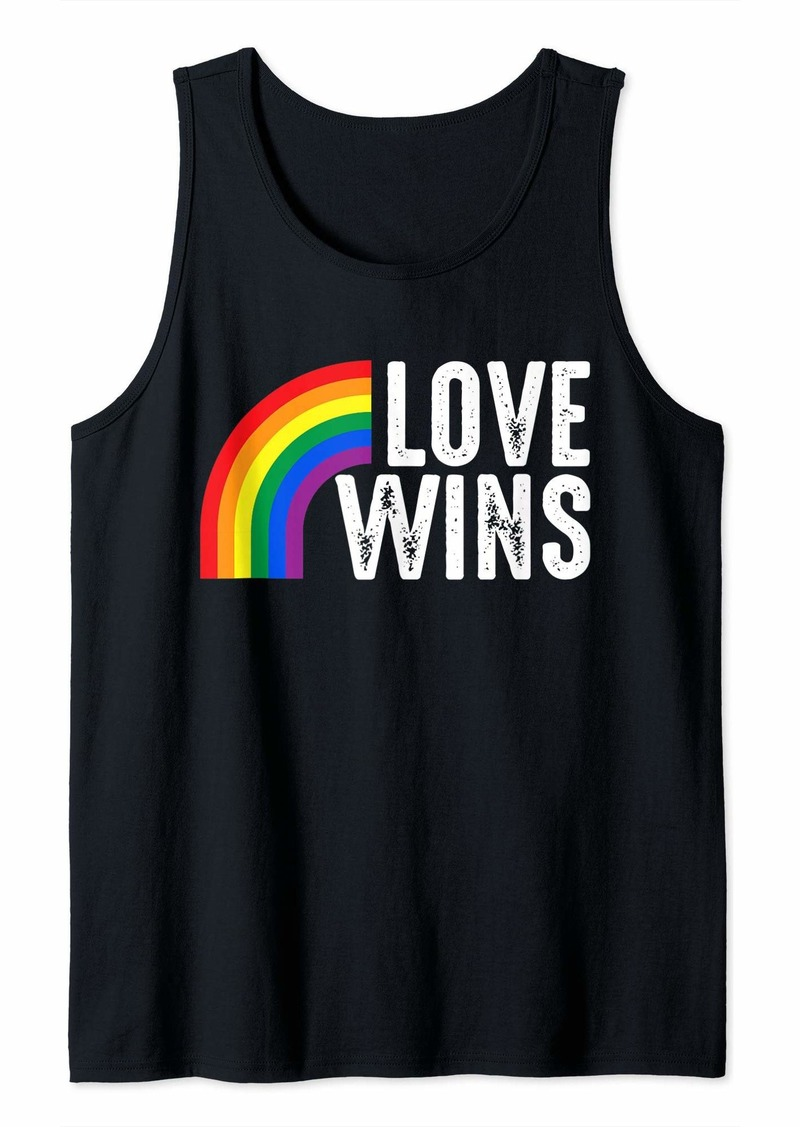 Love Wins Rainbow Gay Tank Top
