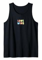 Rainbow Pastel Love Wins Tank Top