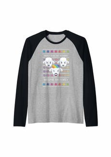 Proud To Be The Rainbow Sheep of The Family - LGBTQ+ Quote Raglan Baseball Tee
