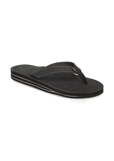 Rainbow Double Layer Leather Flip Flop (Women)