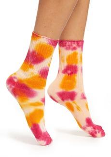 Rainbow Unicorn Birthday Surprise Janis Tie Dye Crew Socks