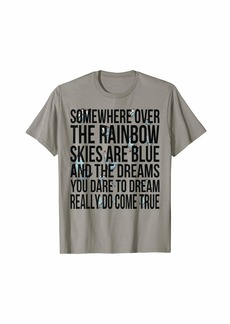 Somewhere over the rainbow-Men Women Kids Butterfly T Shirt