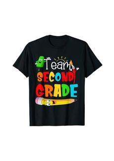 Team 2nd Grade Rainbow Print Second Grade Teacher Kids T-Shirt