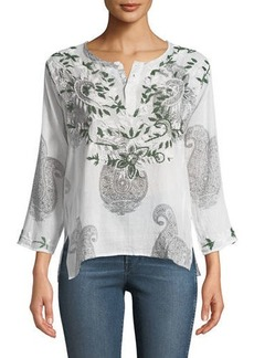 RAJ Faith Embroidered Long-Sleeve Tunic