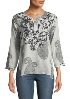 RAJ Faith Embroidered Long-Sleeve Tunic
