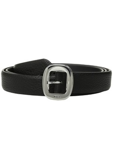 "Ralph Lauren 1"" Basic Rounded Centerbar Pebble Belt"