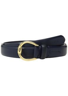 "Ralph Lauren 1"" Bennington Equestrian Belt on Smooth Strap"