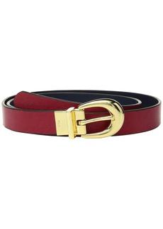 """Ralph Lauren 1"""" Saffiano to Smooth Reversible Belt"""