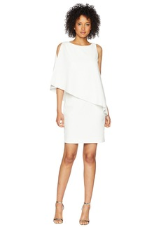 Ralph Lauren 130H Luxe Scuba Crepe Cooper One Shoulder Day Dress