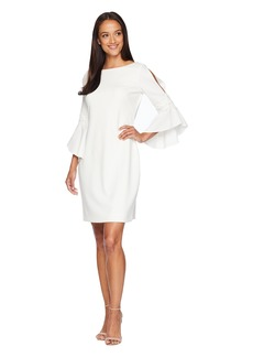 Ralph Lauren 130H Luxe Tech Crepe Demi 3/4 Sleeve Day Dress
