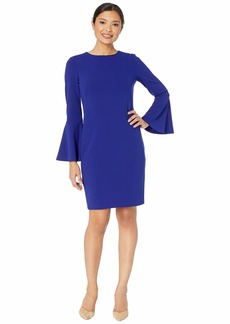 Ralph Lauren 130H Luxe Tech Crepe Gomy Long Sleeve Day Dress