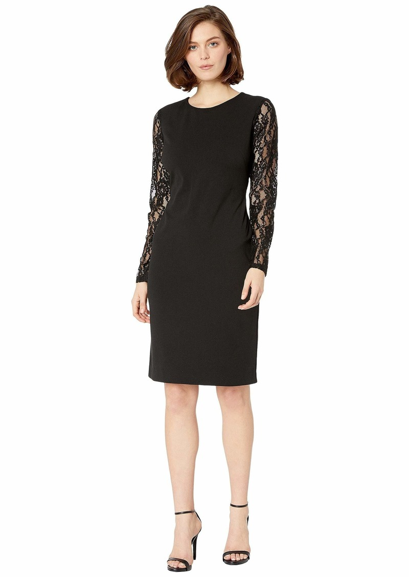 Ralph Lauren 130H Luxe Tech Crepe Keanu Long Sleeve Day Dress