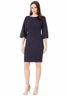 Ralph Lauren 130H Luxe Tech Crepe Louisa Elbow Sleeve Day Dress
