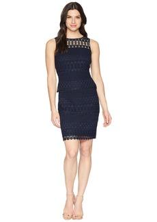 Ralph Lauren 143B Nora Geo Lace Pepper Sleeveless Day Dress