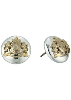 Ralph Lauren 14mm Crest Stud Earrings