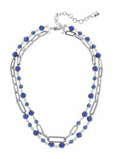 """Ralph Lauren 16"""" 2 Row Bead Link Collar Necklace"""