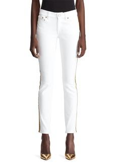 Ralph Lauren 160 Tux-Stripe Skinny Jeans