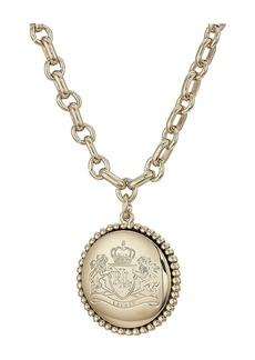 """Ralph Lauren 17"""" Crest Pendant Necklace"""