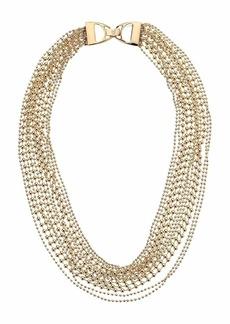 "Ralph Lauren 17"" Multi Row Beaded Collar Necklace"