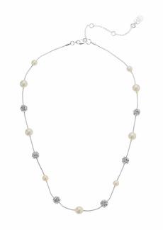 """Ralph Lauren 17"""" Pearl Fireball Necklace"""