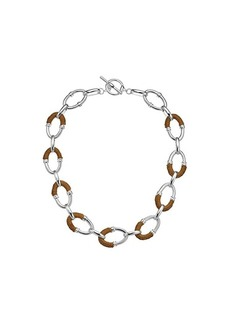 "Ralph Lauren 17"" Raffia Link Necklace"