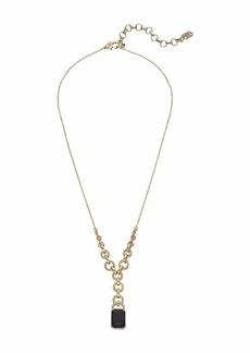 """Ralph Lauren 18"""" Stone Y-Necklace"""