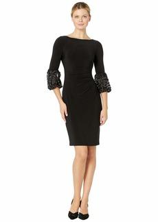 Ralph Lauren 1T Matte Jersey Vidella 3/4 Sleeve Day Dress